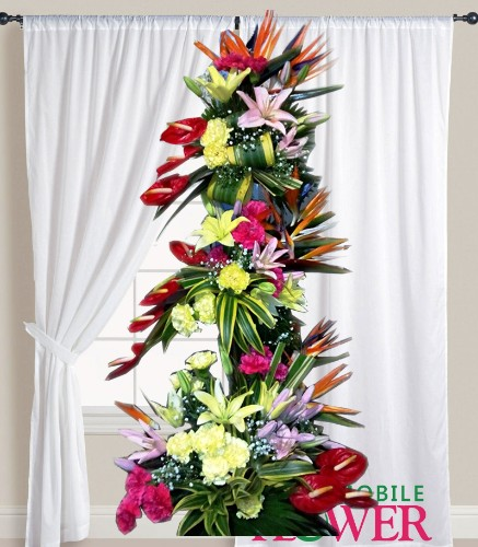 Pure exotic basket  / mobile flower pune
