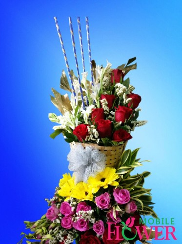 MIX BASKET / mobile flower pune