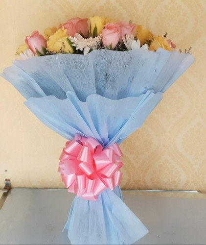 30 MIX ROSES FLOWER BUNCH