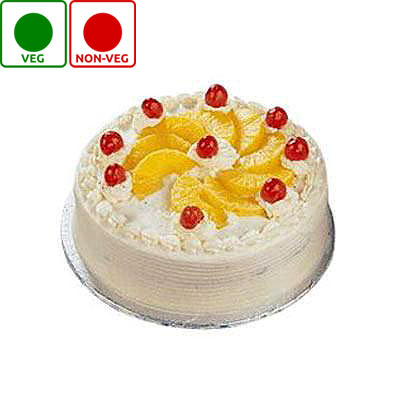 HALF KG DELICIOUS PINEAPPLE CAKE(EGGLESS)