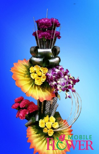 exotic arrangement / mobile flower pune
