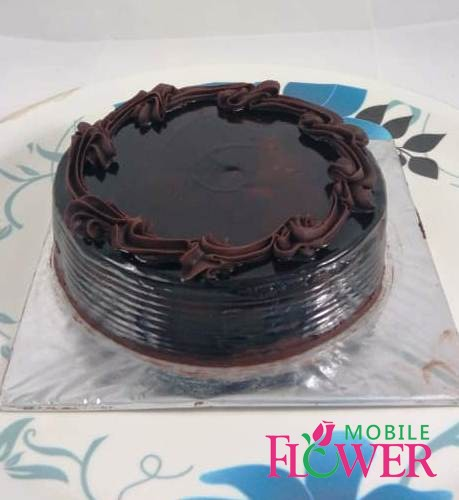1/2kg chocolate cake by mobile flower pune