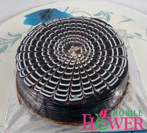 1/2kg cocolate cake by mobile flower pune