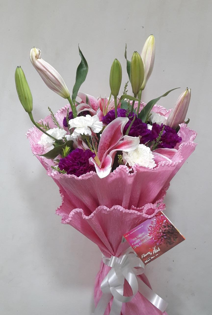 Trusted flowers delivery service by local florist in inda direct exotic flower bunch izmirmasajfo