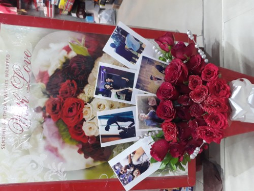 Customised Photograph Rose Bucket