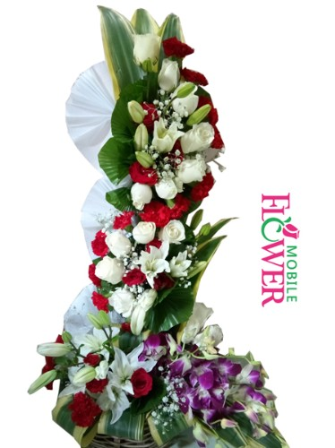jumbo arrangement by mobile flower pune