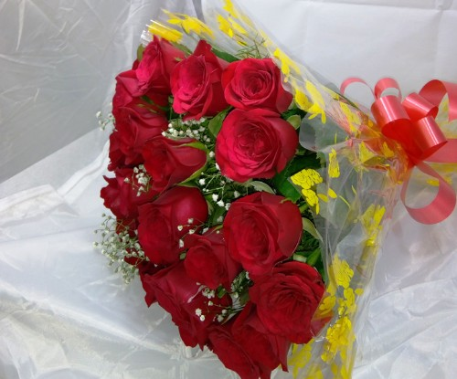 20 red roses bunch by  mobile flower pune florist in pune cake maker in pune