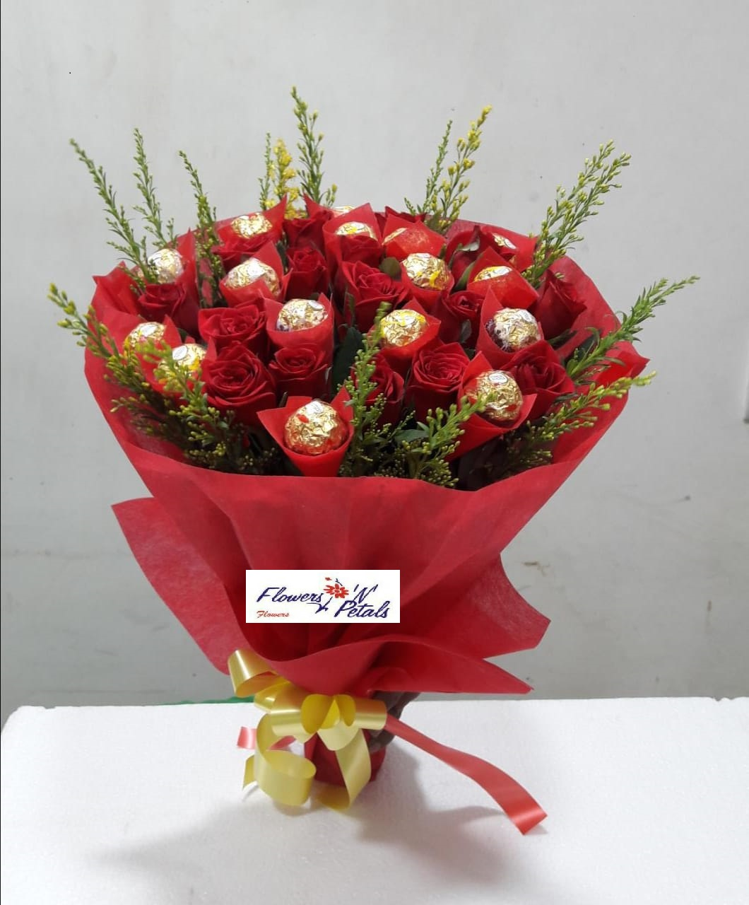 Hand bunch with chocolates