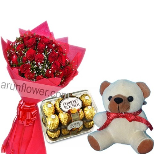 love sparkle with teddy and chocolate(AFC10)