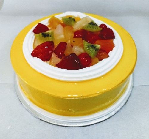 One Pound Eggless Fresh Fruit Cocktail Cake