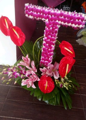 Alphabet Flowers Arrangement