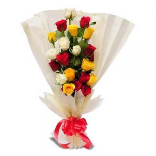 Sleek and Stylish Bunch of 20 Mix Roses