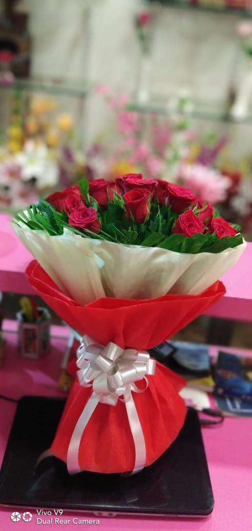 20 red   roses bunch / just flowers ahmednagar