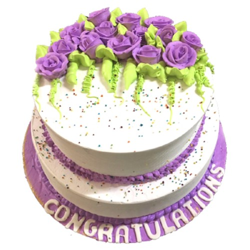 3 Kg White and Purple Cake