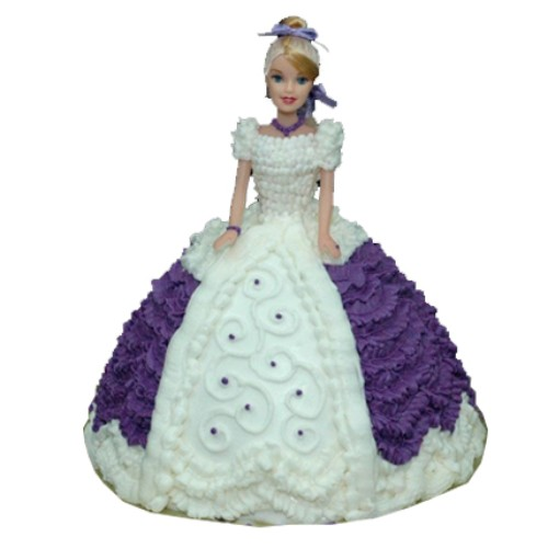 Purple Dress Doll Cake 2kg