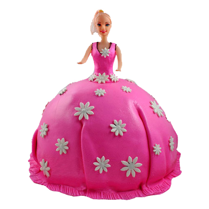 Pink Barbie Doll Cake 2kg