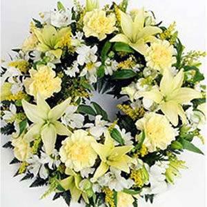 Elegant Floral Wreath