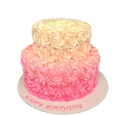 2 layer Roses Cake